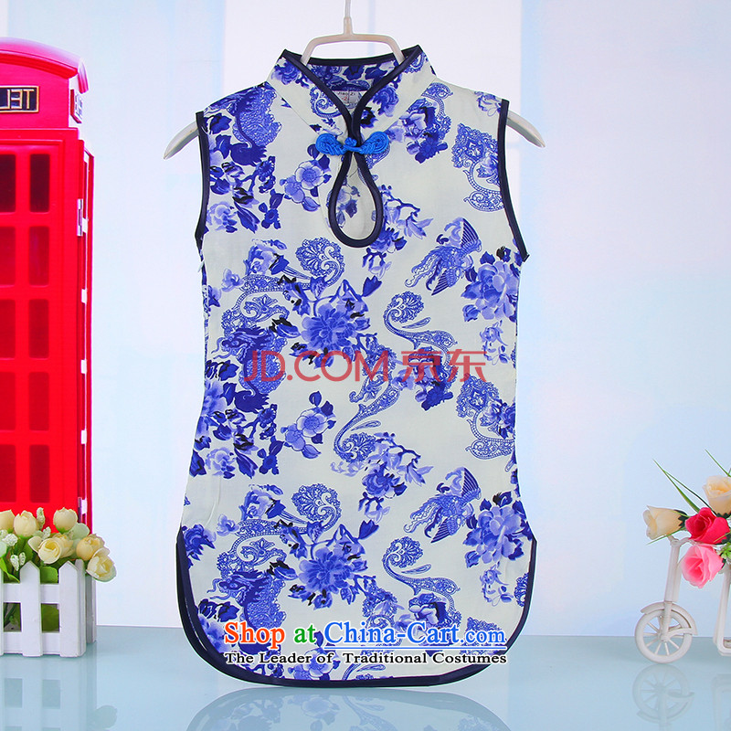 The little girl children's wear skirts qipao children Girls Boys qipao baby qipao size of the Tang dynasty 2015 new 4,521 Blue 100