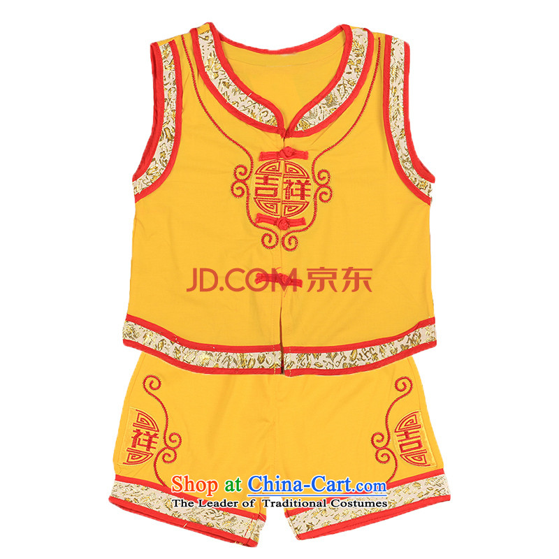 2015 new baby Tang dynasty summer hundreds of age-old baby service kit tulles children homewear 4697th Yellow90
