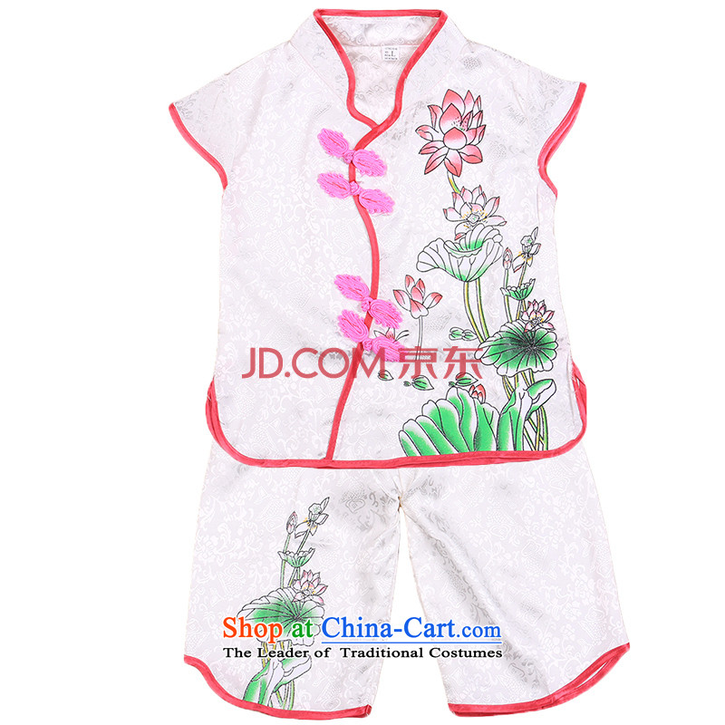 2015 New Baby package girls Tang Pack Children Summer Infant Garment?0-1-2-3 age of 4,656 court White?110