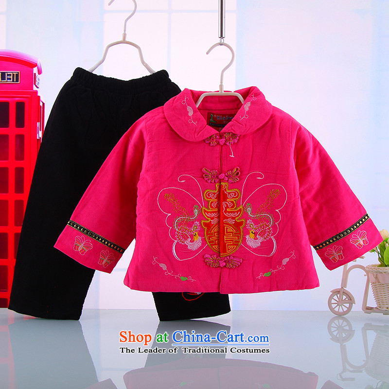 The baby girl Tang dynasty fall inside the shirt thoroughly New Year Tang Dynasty Infant Garment children aged 0-1-2-3 Week in the Red Robe winter 100