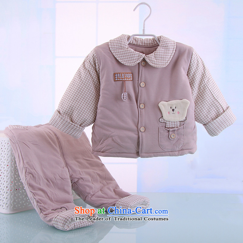 2015 Autumn and winter infant bb baby infant ãþòâ cotton coat cartoon out serving thick jackets with 0-1 year old redpoint of rabbit.... 90cm, shopping on the Internet