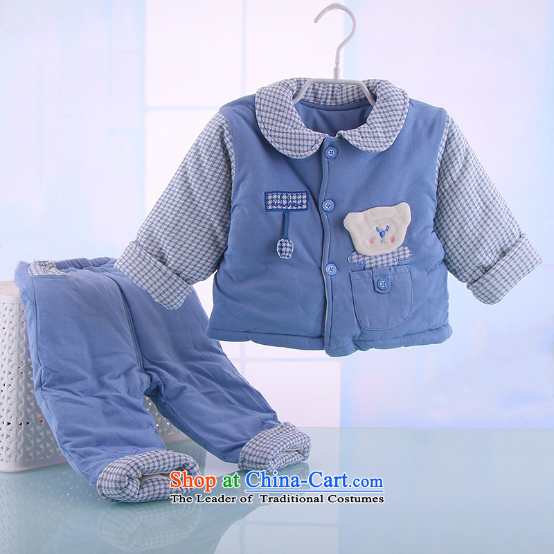 2015 Autumn and winter infant bb baby infant ãþòâ cotton coat cartoon out serving thick jackets with 0-1 year old red point of rabbit.... 90cm, shopping on the Internet