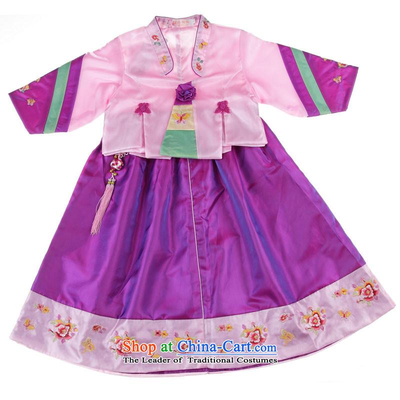 The leaves your baby girl Hanbok dress flower/national/performance on 3120 toner of the dresses violet7 (100-110CM) code