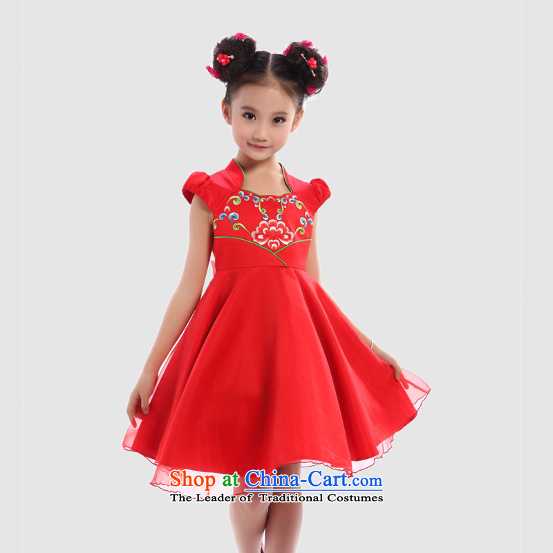 I should be grateful if you would have little girls Wang summer western dress dresses W3229S115/106-115cm/ red