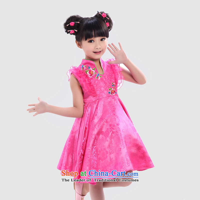 I should be grateful if you would arrange Wang Xiaoyan brocade coverlets girls summer performances dress dresses in red120/116-125cm/ W3249X