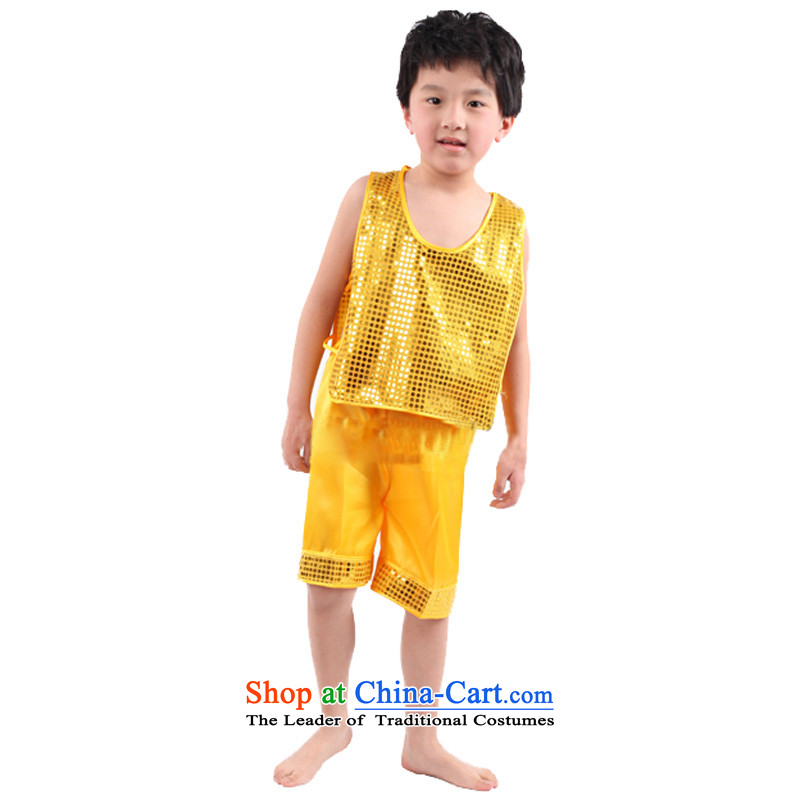 Adjustable leather case children's entertainment services on the package are handsome ma shorts package folder Yellow聽140cm