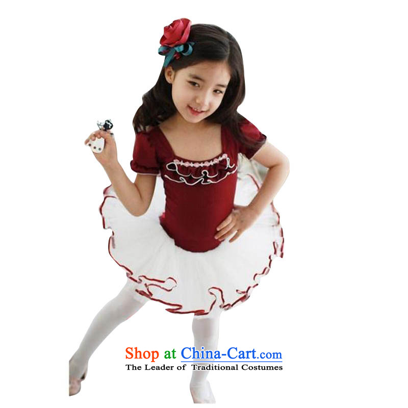 Adjustable leather case package of children's wear girls will dance to exercise clothing dance wearing red 140cm
