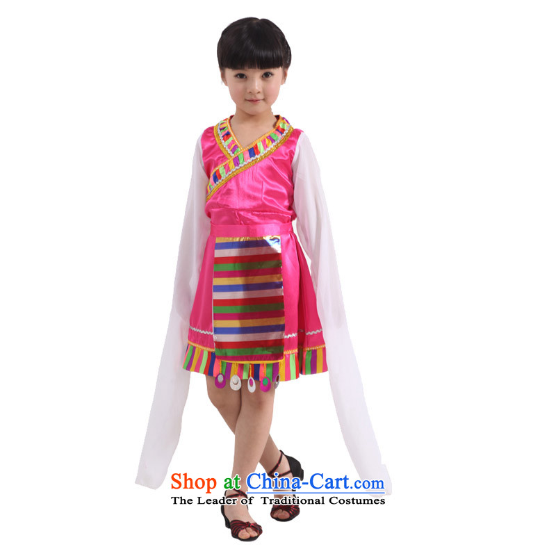 Adjustable leather case of children's wear costumes dance package children's entertainment services red聽XXL