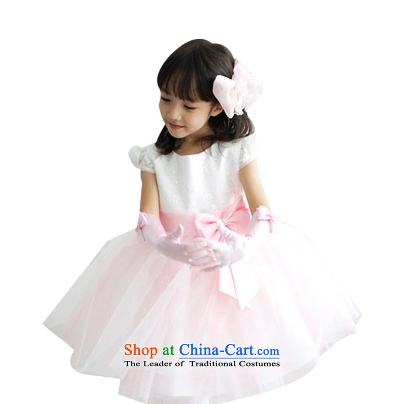 Adjustable leather case package girls dresses princess skirt bon bon skirt聽125cm White
