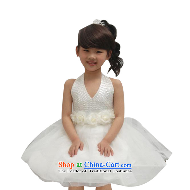 Adjustable leather case package girls summer princess skirt bon bon skirt hang also back show the skirt beige155cm