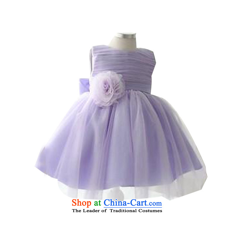 Adjustable leather case package girls purple princess skirt performances dresses bon bon skirt purple聽150cm