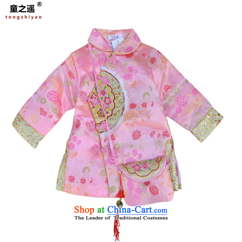 Children away from the Tang dynasty children girls New Year dress Chinese characteristics little princess birthday spring festival will serve national 0133 pink 13