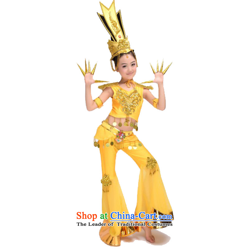 Adjustable leather case package thousands of Kuanyin classical dance performances to yellow150cm( does not take the lead)