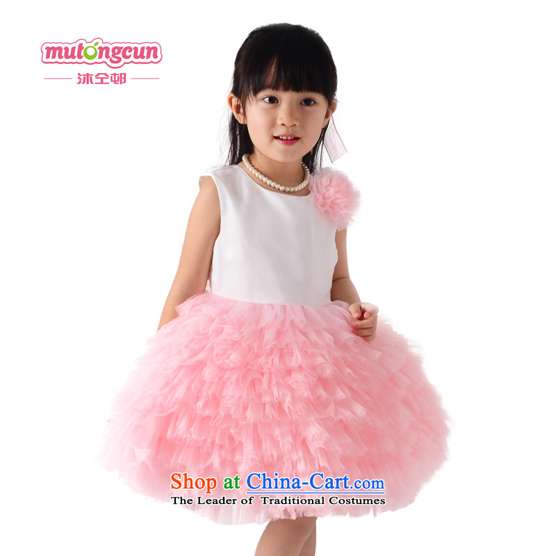 Bathing in the staff of the estate children dress princess skirt pink cake bon bon skirt Flower Girls will dress girls dresses 204 pink 120cm