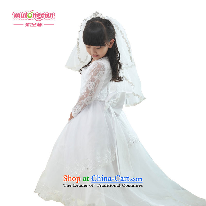Bathing in the estate of the colleagues of the girl child upscale Flower Girls skirt children dress princess skirt tail wedding dresses 201 140