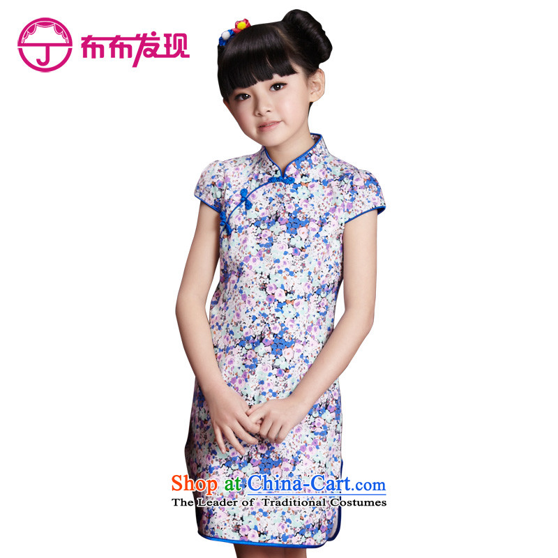 The Burkina found the spring girls qipao costumes parent-child replacing stamp short-sleeved qipao S3141358 light violet saika160 code