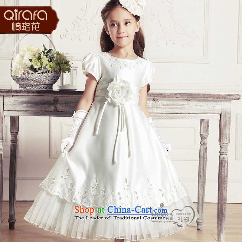 Yamazaki said Princess skirts QIRAFA Flower Girls dress wedding dress princess skirt dress skirts children dresses Summer 2015 new children's wear 13071 m White?100 yards