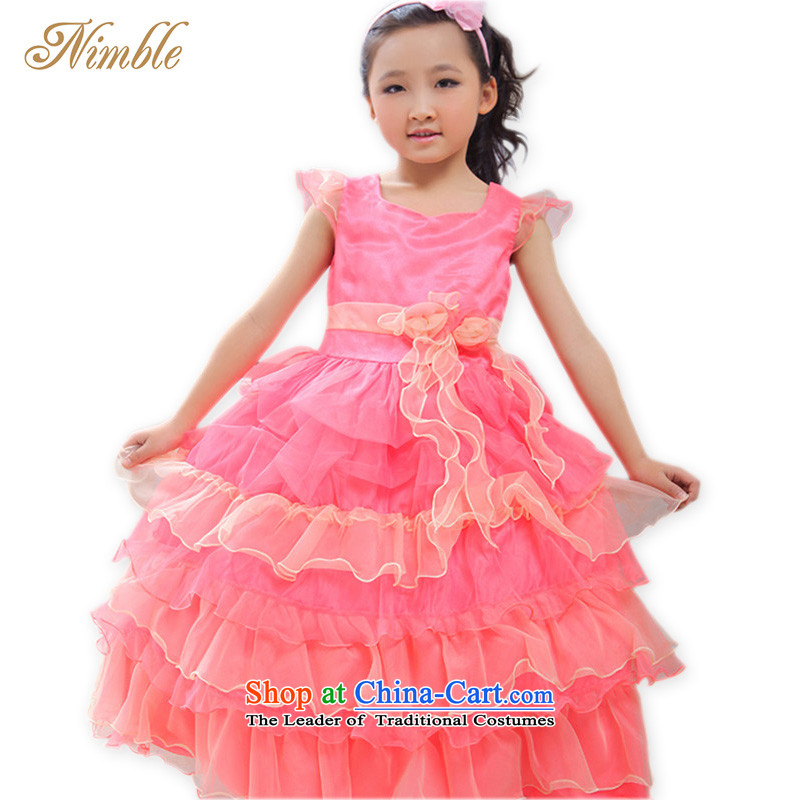 Tien Po NIMBLE upscale luxury children dress skirt princess skirt Flower Girls skirt wedding dress girls piano performances photography load under the auspices of birthday party gift clothing as figure 135cm
