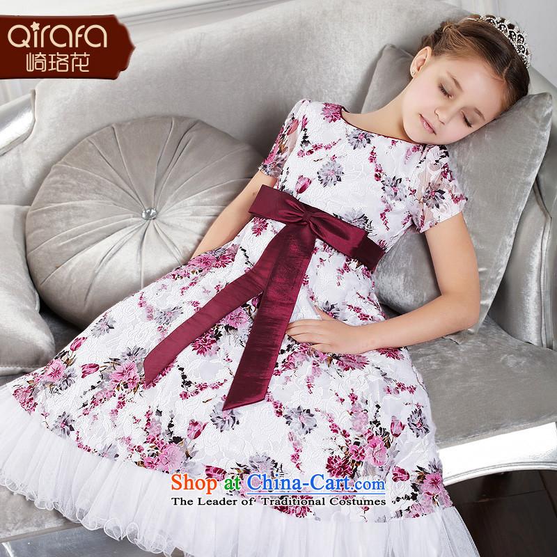 Kawasaki Judy spend QIRAFA children wedding dress princess skirt dress skirt princess skirt girls dress dresses Summer2015 new children's wear suit140 Code 4003