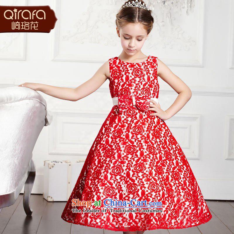 Yamazaki said Princess skirts QIRAFA Flower Girls dress children dress skirt princess skirt wedding dress dresses Summer 2015 children's wear new 4011 Red聽110 code