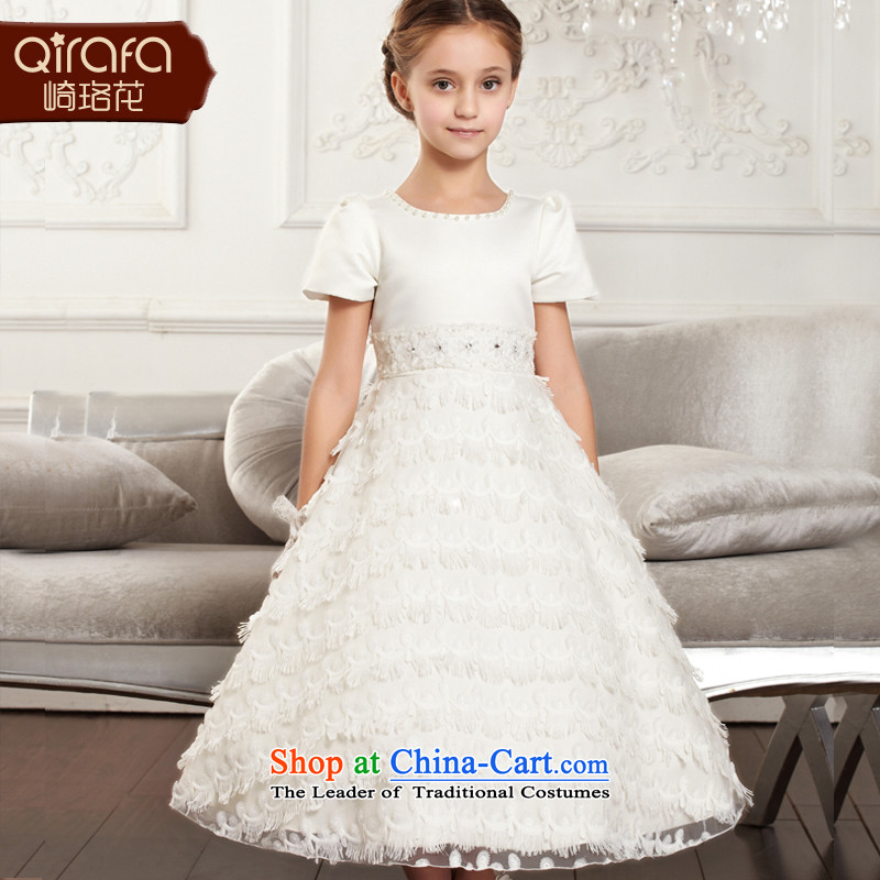 Yamazaki said Princess skirts QIRAFA flower girl children dress dresses summer gown skirt princess skirt wedding dress2015 New 4001 children's wear white120 code
