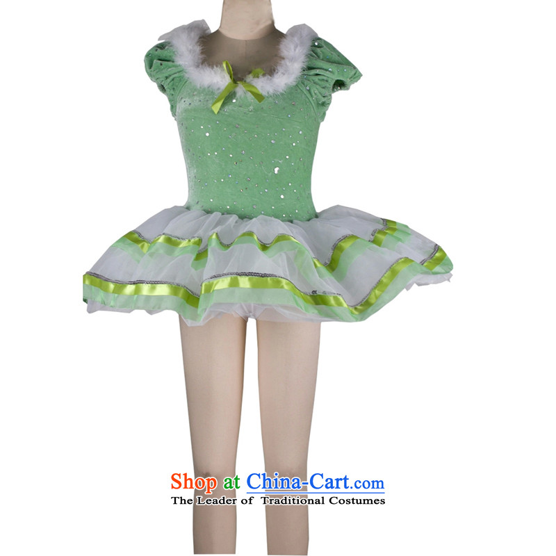 Adjustable leather case package children ballet skirts exercise clothing costumes princess skirt 185cm green