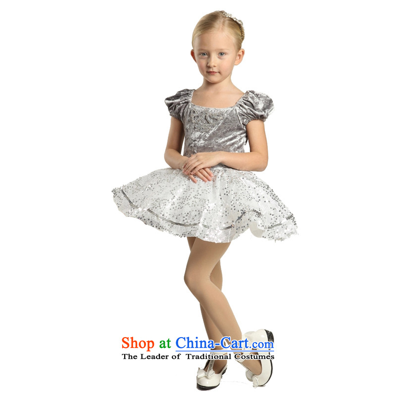 Adjustable leather case package children dress skirt girls princess skirt Flower Girls skirt bon bon skirt聽185cm Silver Gray