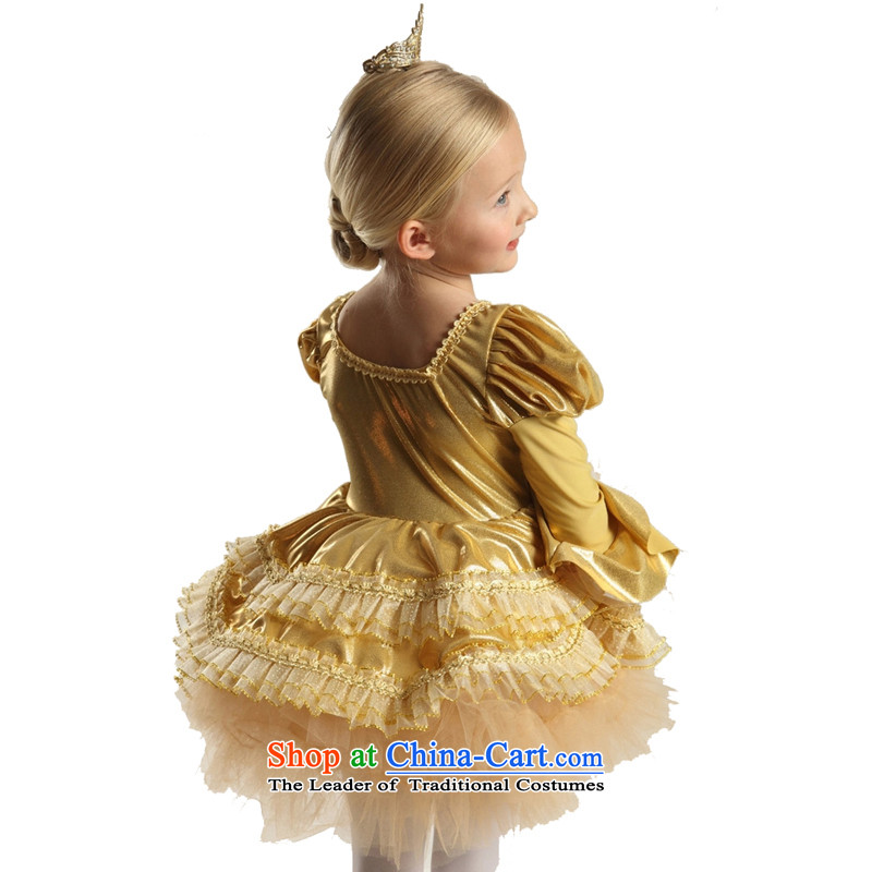 Adjustable leather case package dress princess skirt ballet skirt Flower Girls dress185cm, gold-leather case package has been pressed shopping on the Internet