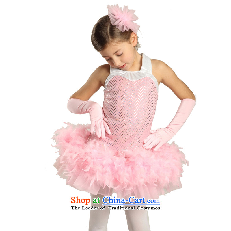Adjustable leather case package children dance services girls dress princess skirt pink聽185cm