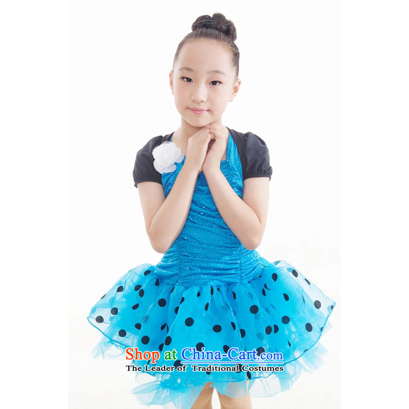 Adjustable leather case package service early childhood dance Latin dance skirt will blue聽185cm children
