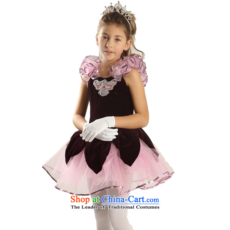 Adjustable leather case package children dance exercise clothing dancing evening dress clothes picture color聽185cm