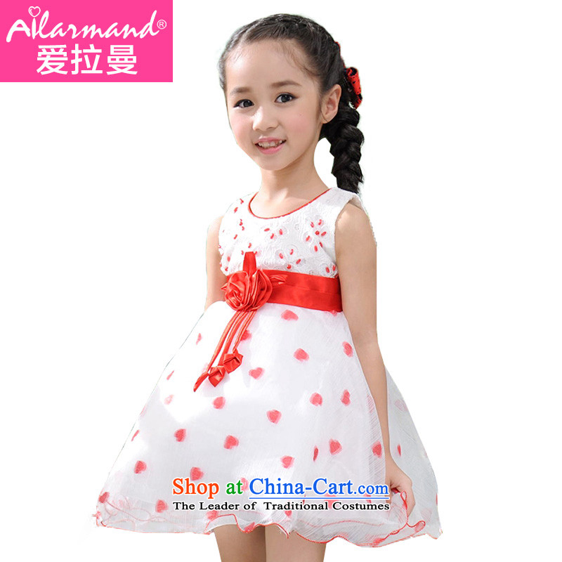 Love Rahman (ailamand) summer new child dresses sweet girl children's wear skirts princess dress 61 performances skirt Flower Girls wedding dress pink pattern bon bon princess skirt skyblue聽120-130 Love Rahman shopping on the Internet has been pressed.