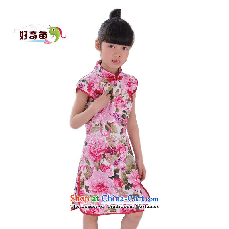 Curious children's wear new fish children qipao Tang dynasty girls cheongsam dress pure cotton will ensure that the skirt bonus recommendation 160 and 160 percent