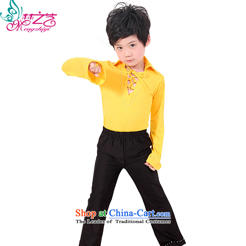 The Dream of the child will celebrate arts new child Latin dance wearing long-sleeved men on summer early childhood services dance piece boy MZY-0217 yellow140