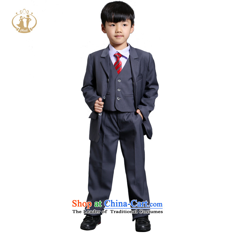 Tien Po NIMBLE boy children's wear upscale dress suits export child Flower Girls suit coats piano performances moderator clothing as figure62 code suitable for left and right height 145cm