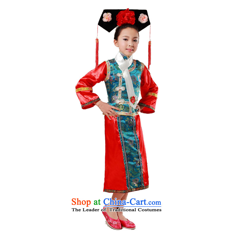 Adjustable leather case package Tang dynasty costume Han-dynasty Princess Returning Pearl blue clothes children, a 140cm