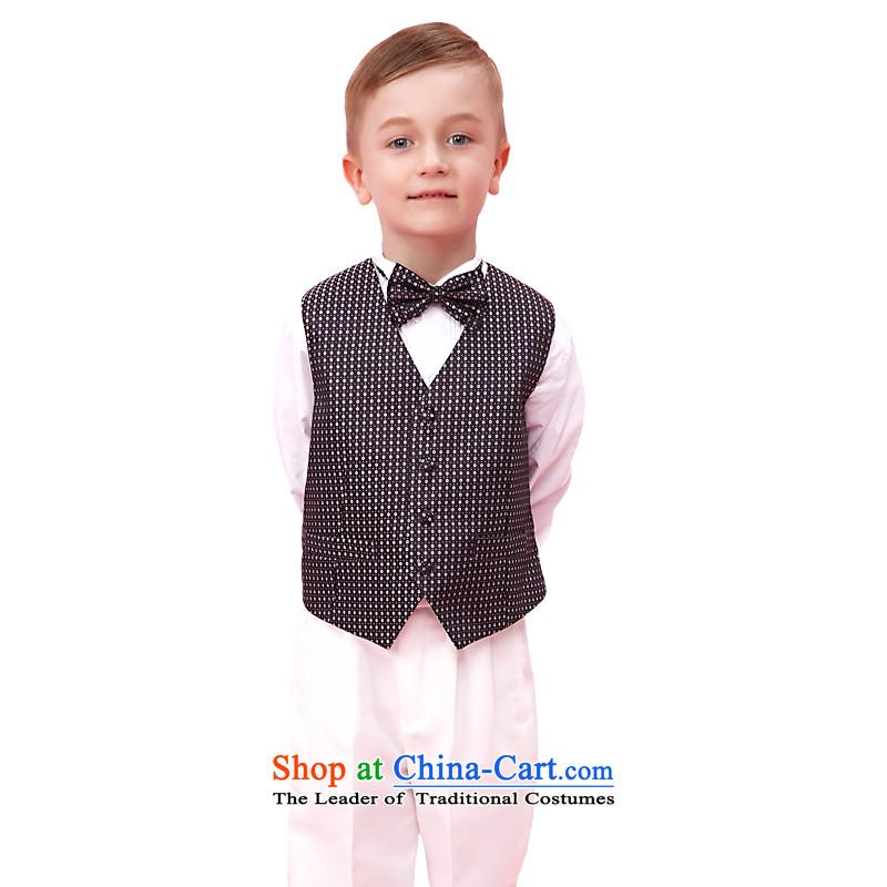 In accordance with the boy land picking dress kit Korean Flower Girls Summer Wedding Dress Suit boy moderator dress purple160