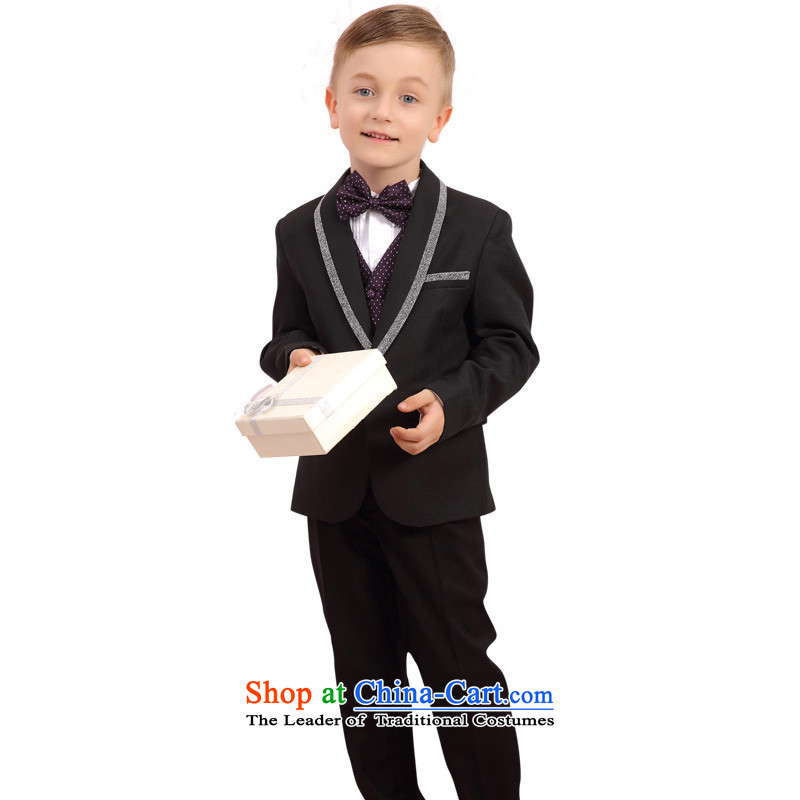 In accordance with the boy land picking kit flower girl children suits suit handsome gentleman theatrical performances services birthday Flower Girls dress ST5301 Black120