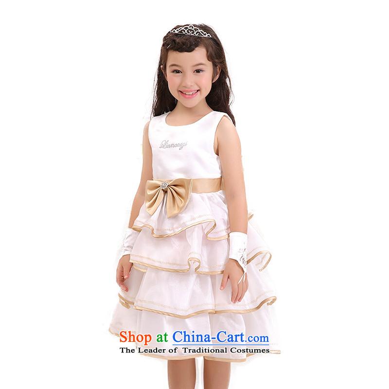According to the new land picking Girls High Little Princess skirt will take children's wear dresses court children bon bon skirt in longW301419White150