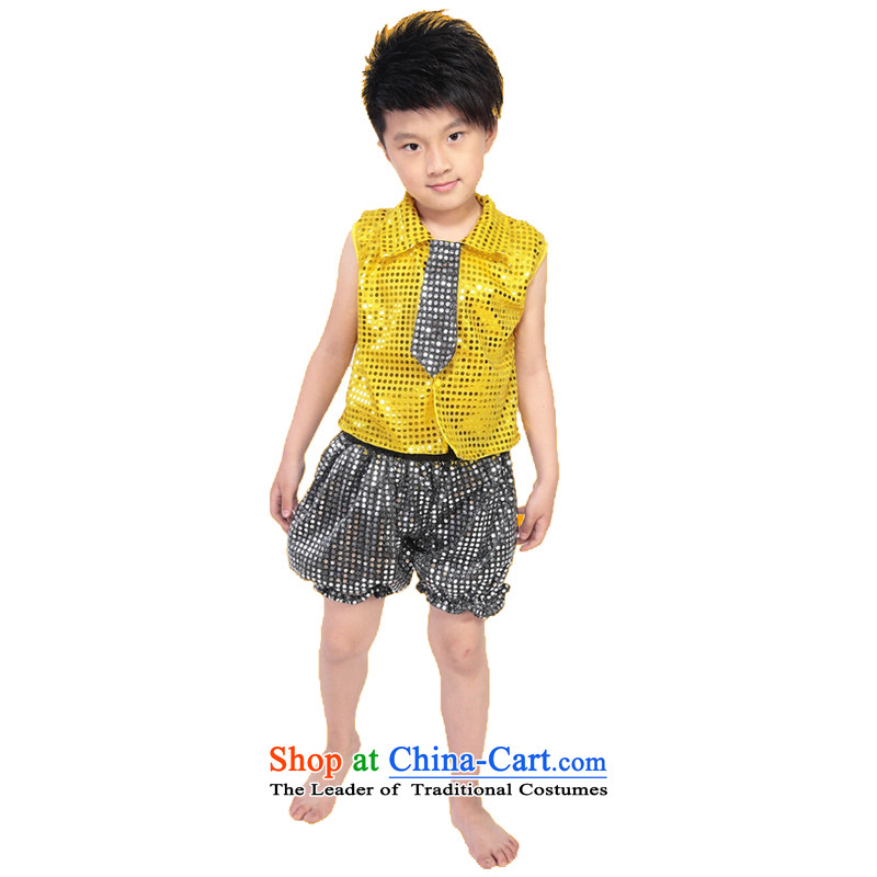 Adjustable leather case package children's entertainment dress early childhood costumes 榛勮。 silver trousers聽130cm