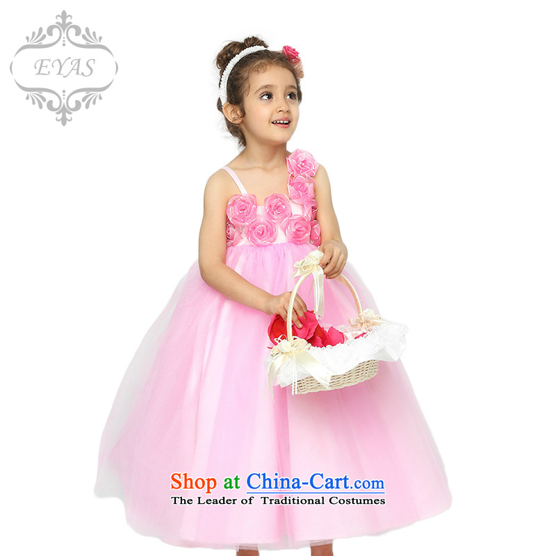 New Spring EYAS Flower Girls dress girls princess skirt children wedding dress clothes snow white dress bon bon skirt will dress skirt dresses female pink 150