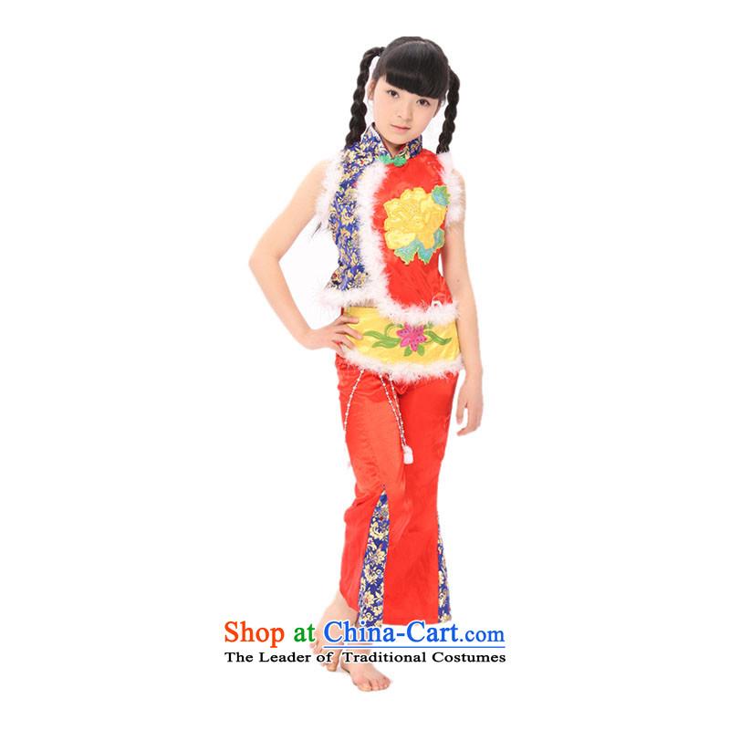 Overgrown Tomb Memnarch rain children costumes dance costumes girls victimized cabaret guzheng will serve?TZ5108-0097?red?130cm