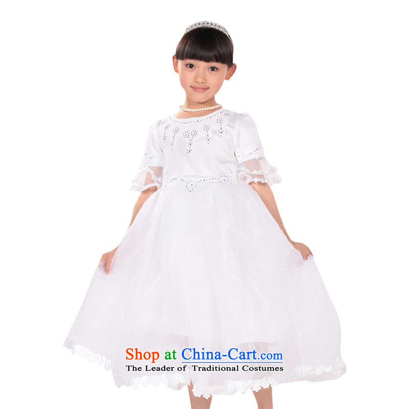 The age of dress skirt Flower Girls dress children princess skirt wedding dress bon bon skirt girls costumes TZ5108-0093 white L
