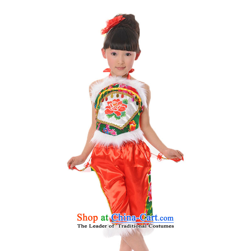 Overgrown Tomb Memnarch rain children dance services will children costumes girls yangko dance performances TZ5108-0083 costume clothing services  110cm(l) green