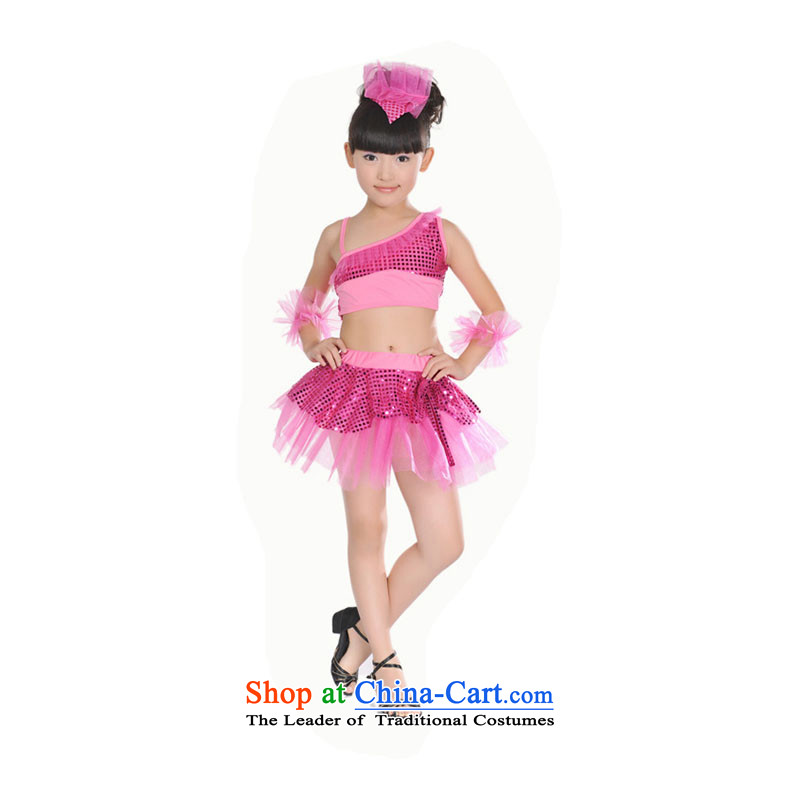 Children Latin will split ballet skirt child care services team dance stage with the red (recommendations TZ5108-0081 large) 130CM(XXL)