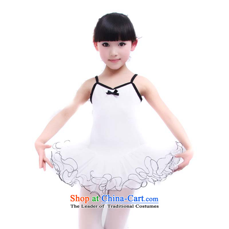 The Korean version of the upscale children ballet skirt girls dancing skirt summer exercise clothing will dance services TZ5108-0075 cotton white slips 110cm,