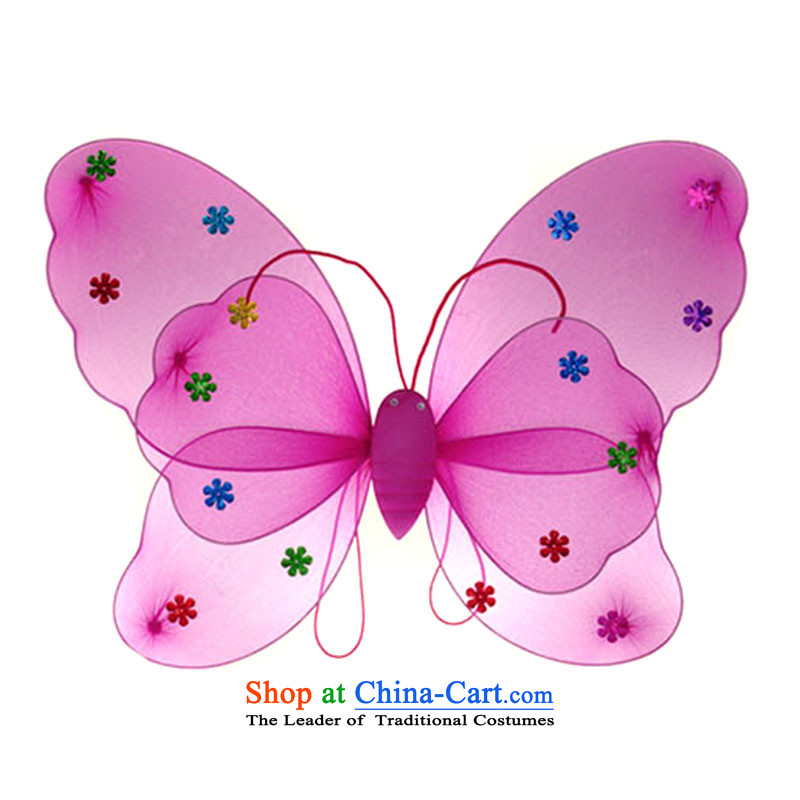 Children's entertainment for clothing Angel's Wings butterfly wings three butterfly props TZ5108-0060 kit is available - Red