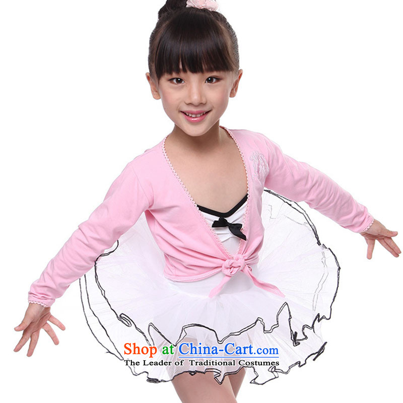 Children Dance services small shawl early childhood autumn and winter long-sleeved dance small shawl?TZ5108-0059?pink small shawl?120cm