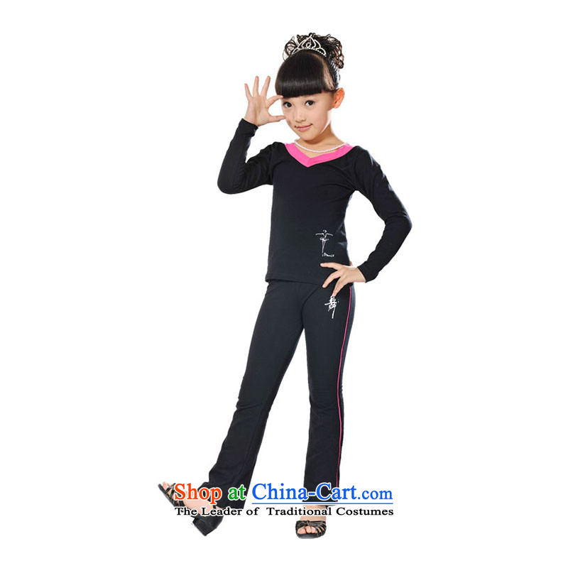 Children Dance clothing exercise clothing Latin dance wearing girls autumn and winter package exercise clothing TZ5108-0027 services by children dance red 120-130cm recommendations