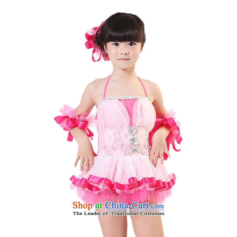 Children will dress dances to girls princess skirtTZ5108-0007Coco Lee Red150cm